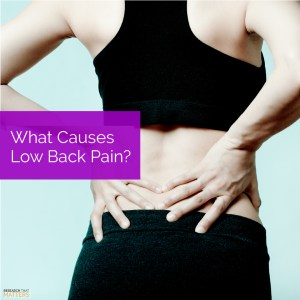 What causes low back pain