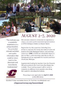 Beaver Island 2020 Flyer (Link to PDF)