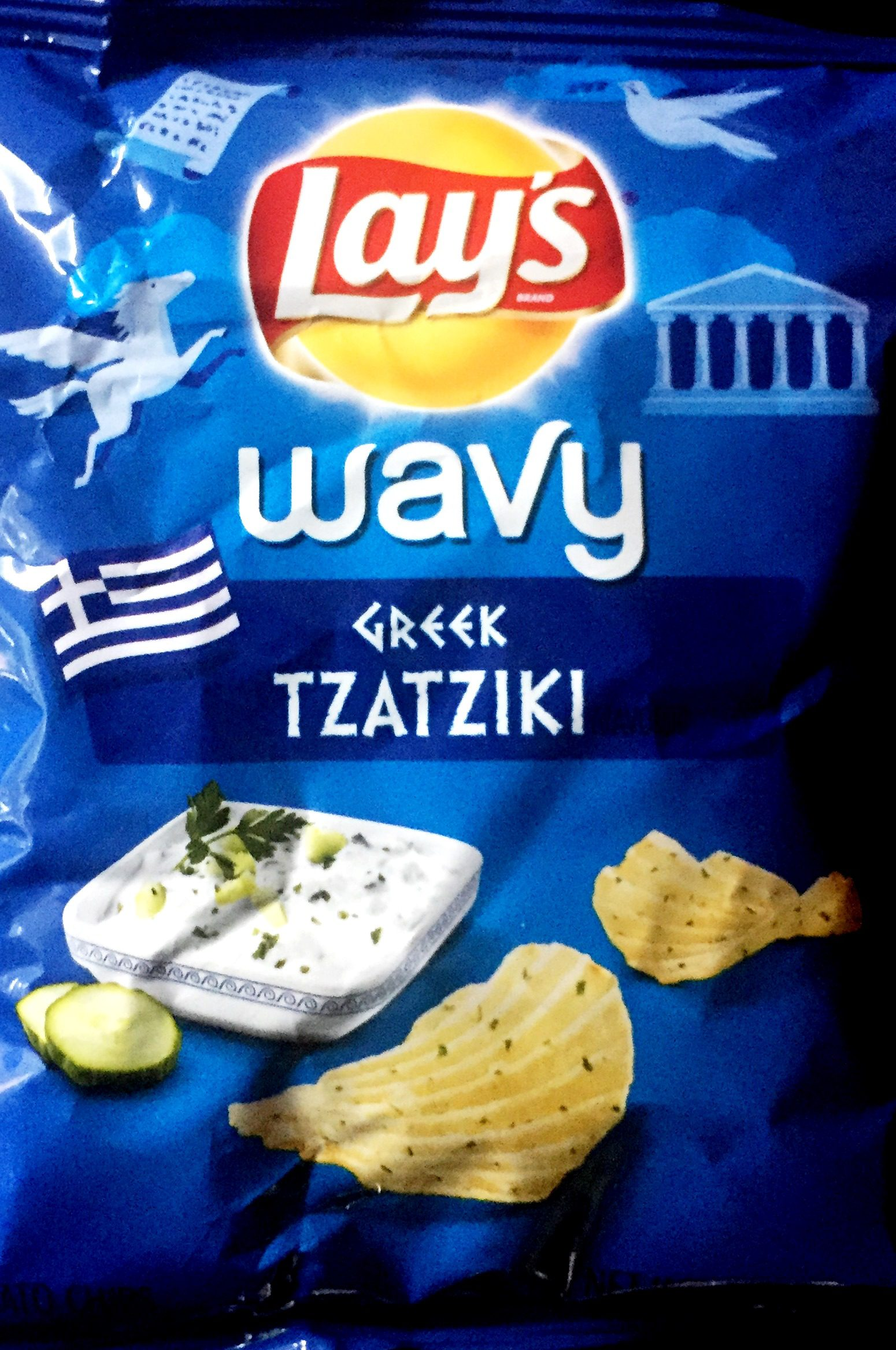 REVIEW Lays Wavy Passport To Flavor Greek Tzatziki
