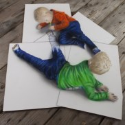 Niños sobre suelo 3D