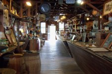 Ted Smallwood Store interior; thank heavens for fans!!! It's steamy here in the summer.