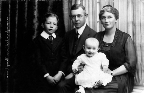 1921, Frank and Fannie with their two sons.