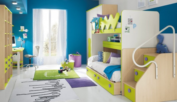 5 Kids room design 600x348 1 Stylish and Functional Kid's Bedroom