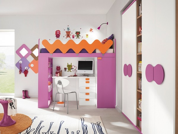 8 Girls cabin bed 600x451 1 Stylish and Functional Kid's Bedroom