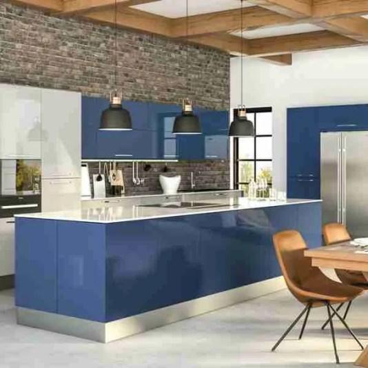 zurfiz ultragloss baltic blue ultragloss 600x600 1 High Gloss Kitchen Cabinets