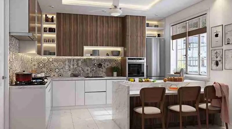 breakfast bar countertop ideas Trending Modular Kitchen Designs