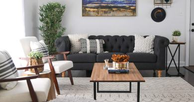 decorate small living room modern black white Cheap bedroom makeover