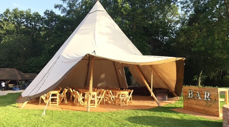 canvas and light giant tipi hire garden party 3s Renting a Giant Tipi