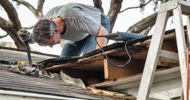 All Round Roofing removing rotten wood from leaky roof Air Conditioner Repair