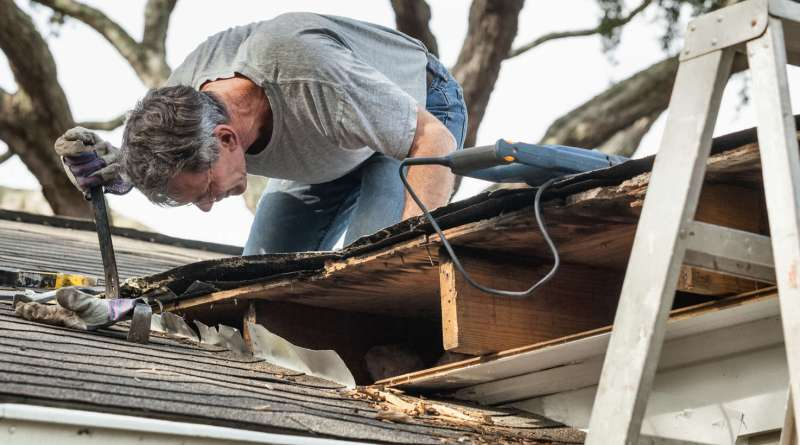 All Round Roofing removing rotten wood from leaky roof Upcoming Monsoon Season