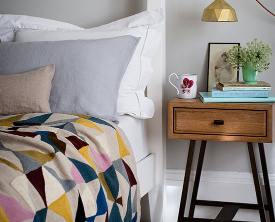 Contemporary mid century bedroom Cheap bedroom makeover
