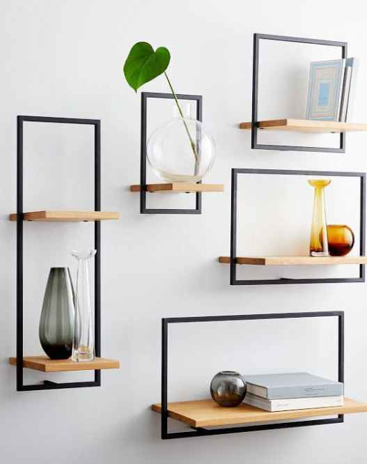 floating shelves ideas west elm Ways to Decorate Bare Walls