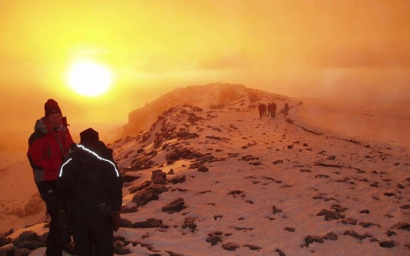 mount kilimanjaro trekking snow summit sunrise tanzania Places to Visit in Africa