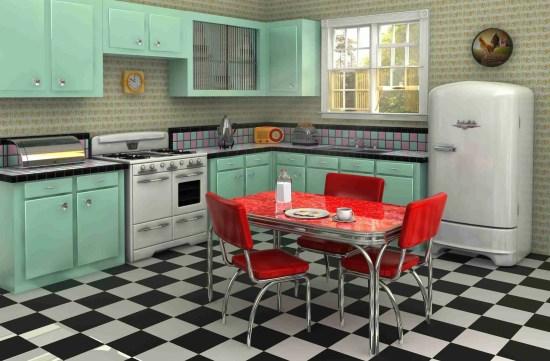 Kitchen A Retro Look