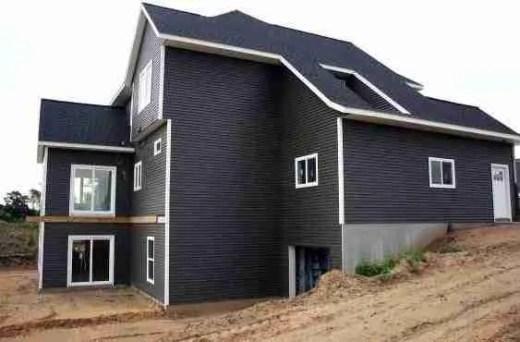 design ideas for house siding dark grey modern house siding ideas