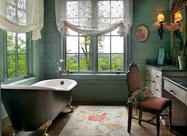 dark bathroom Vintage Decor For Your Bathroom
