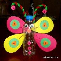 Mariposa reciclada