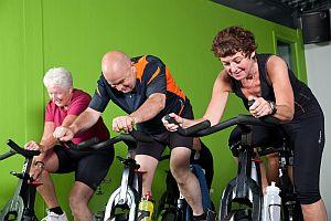 Senior cycling group