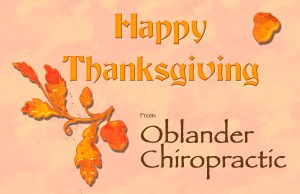 Happy Thanksgiving from Oblander Chiropractic
