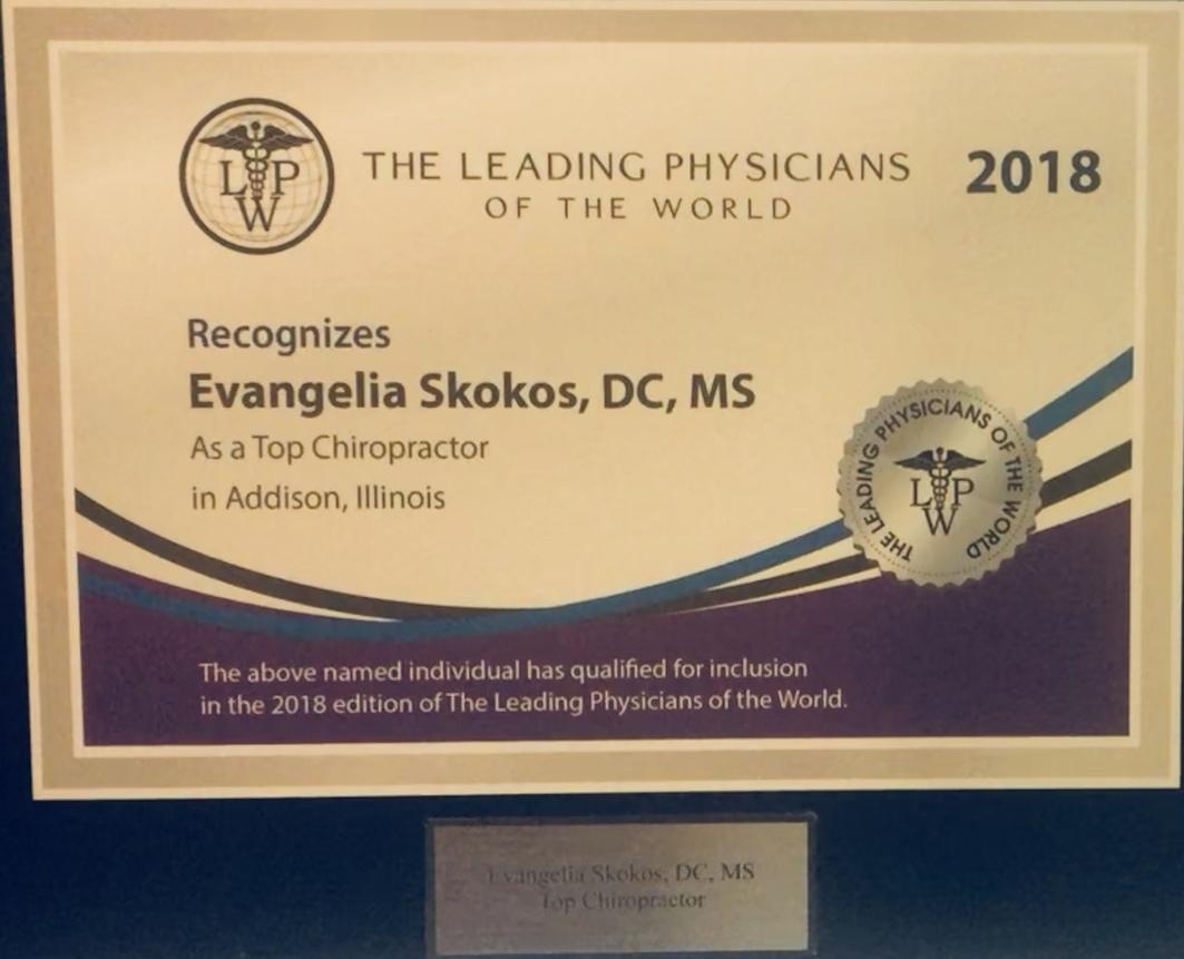 2018 - Leading physician award