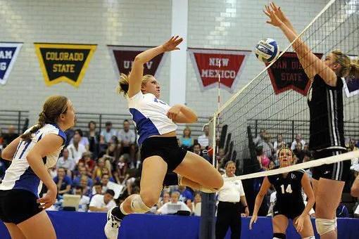 ladies volleyball match