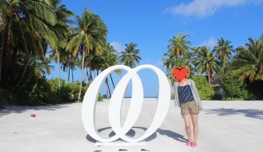 モルディブ♡新婚旅行 One&Only Reethi Rah Maldives Day5-④〜ビーチクラブの写真スポット〜
