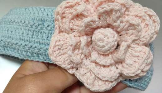 【初心者でも作れる!5作目】産まれてくる赤ちゃんのためにヘッドアクセサリーをかぎ編みで作ってみました🎵