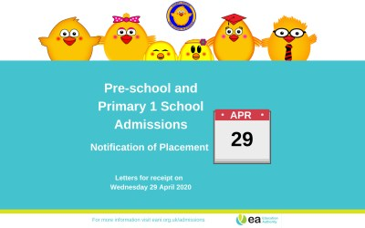 Pre-school Places for September 2020 to be announced 29th April 🎓🐣🐥😊