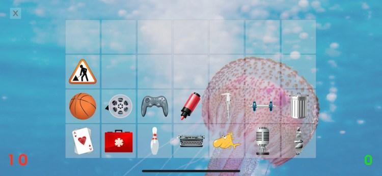 Memory Card, objetos a memorizar