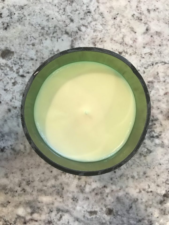 overhead shot of Homemade Soy Candle