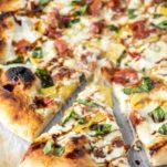 Peach Prosciutto Balsamic Pizza