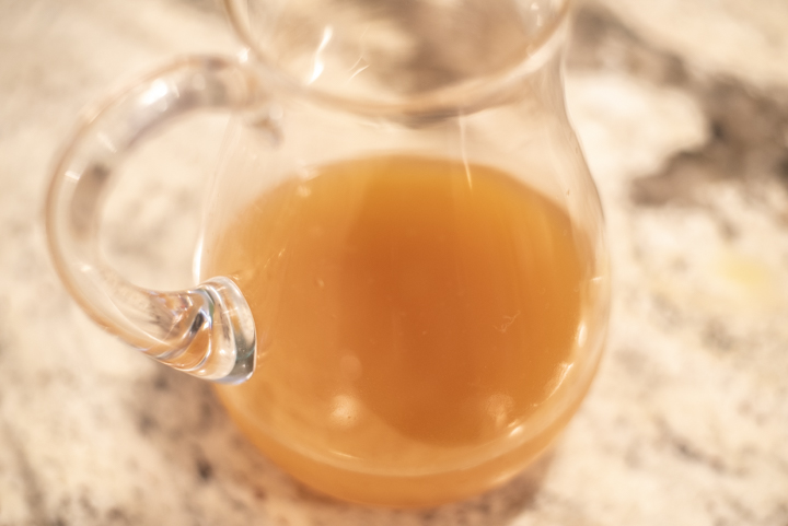process shots of how to make apple cider cocktail