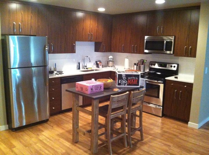 kitchen in former townhome