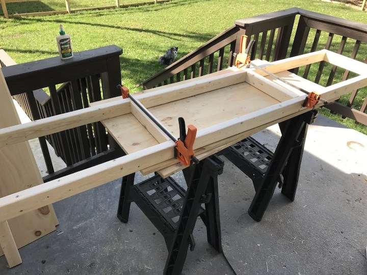 building wood frames for entertainment center