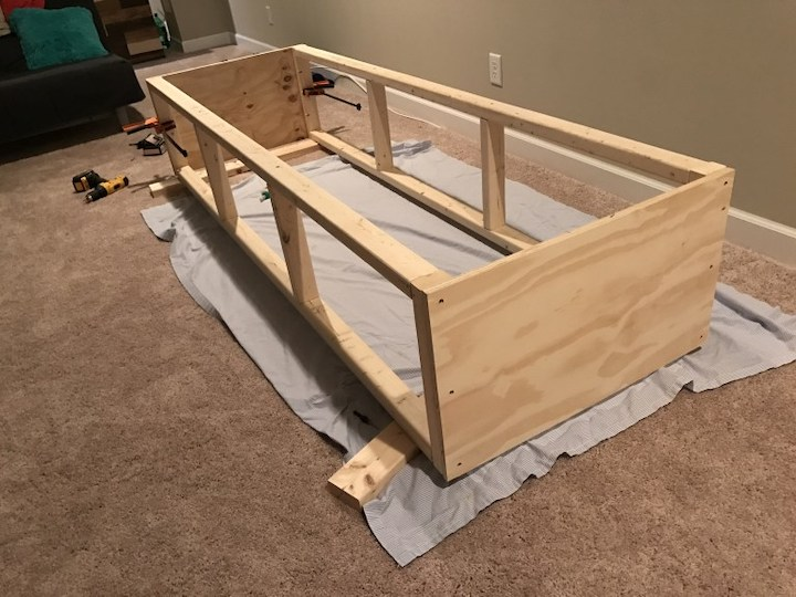 attaching side panels to frames
