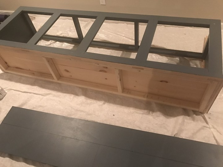 painting sliding door entertainment center