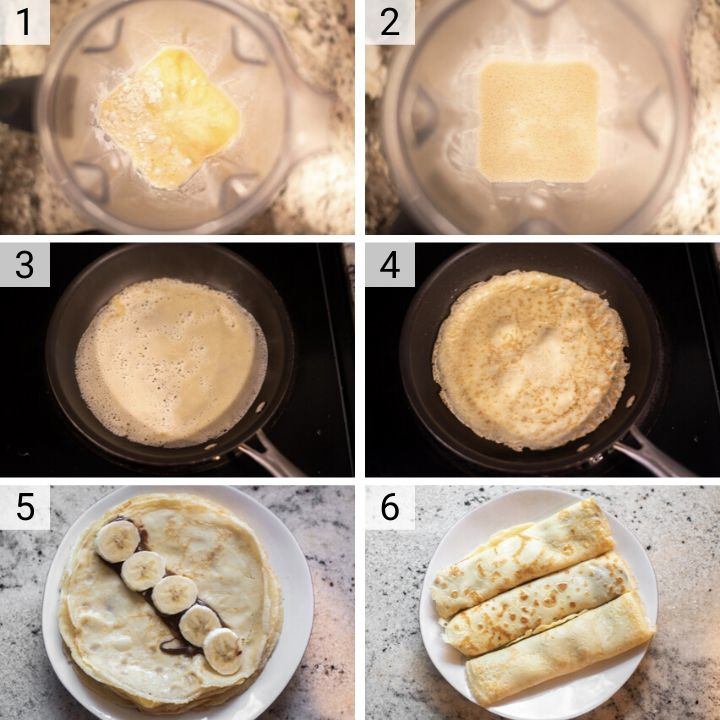 Banana Nutella Crepes Recipe Chisel Fork