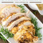 sliced turkey breast on white plate