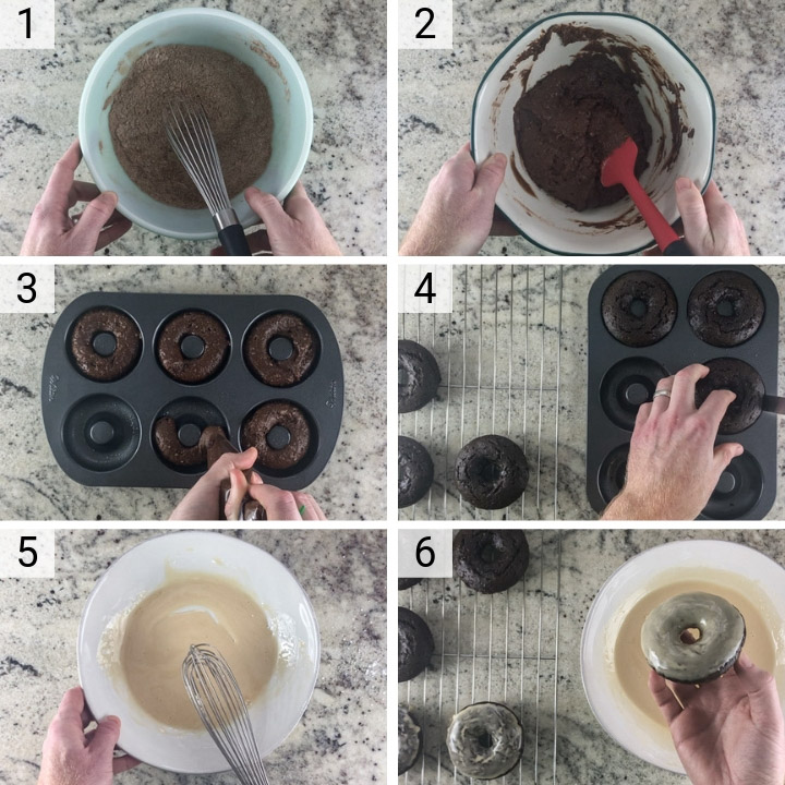 process shots of how to make Guinness chocolate nuts