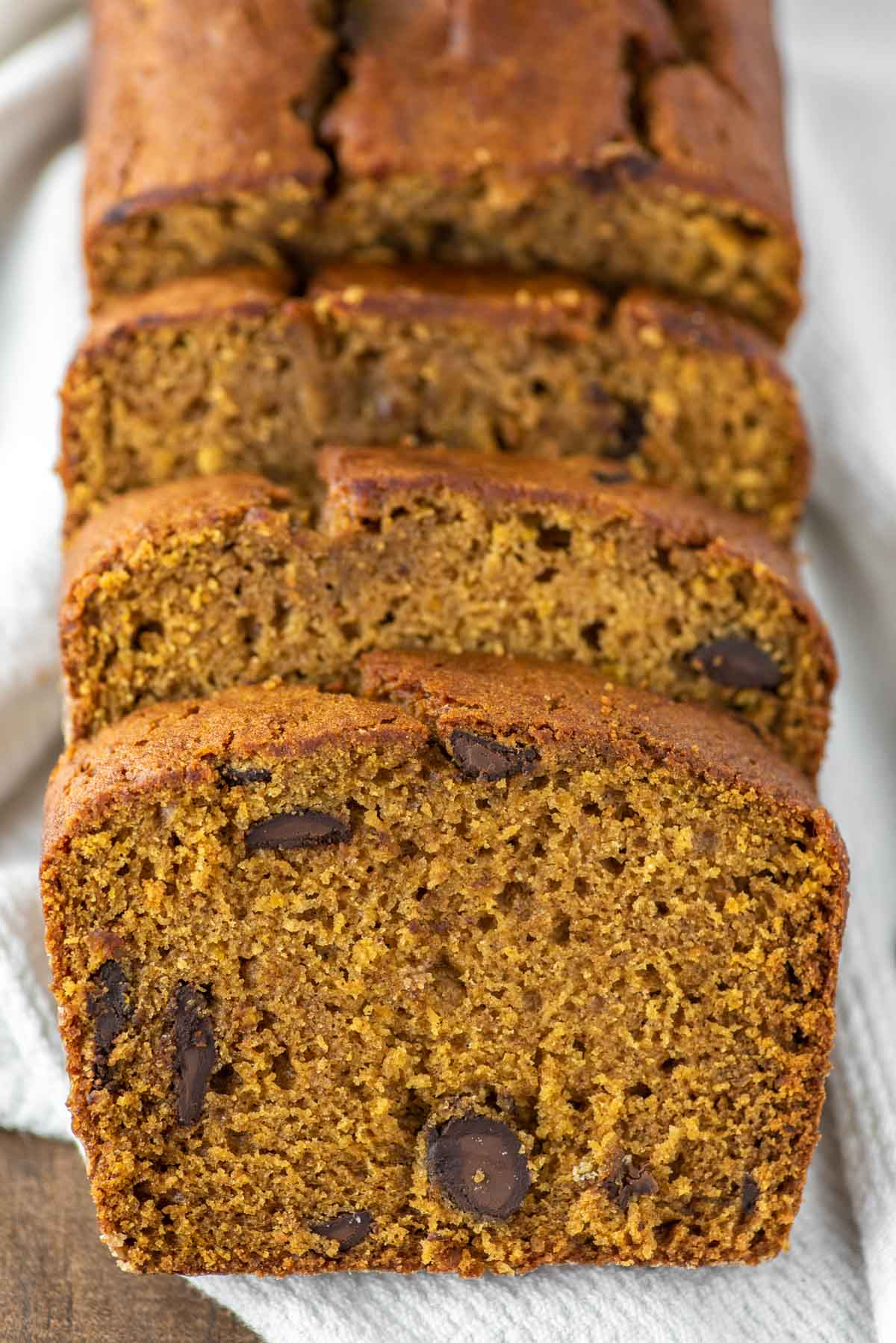 butternut squash bread sliced