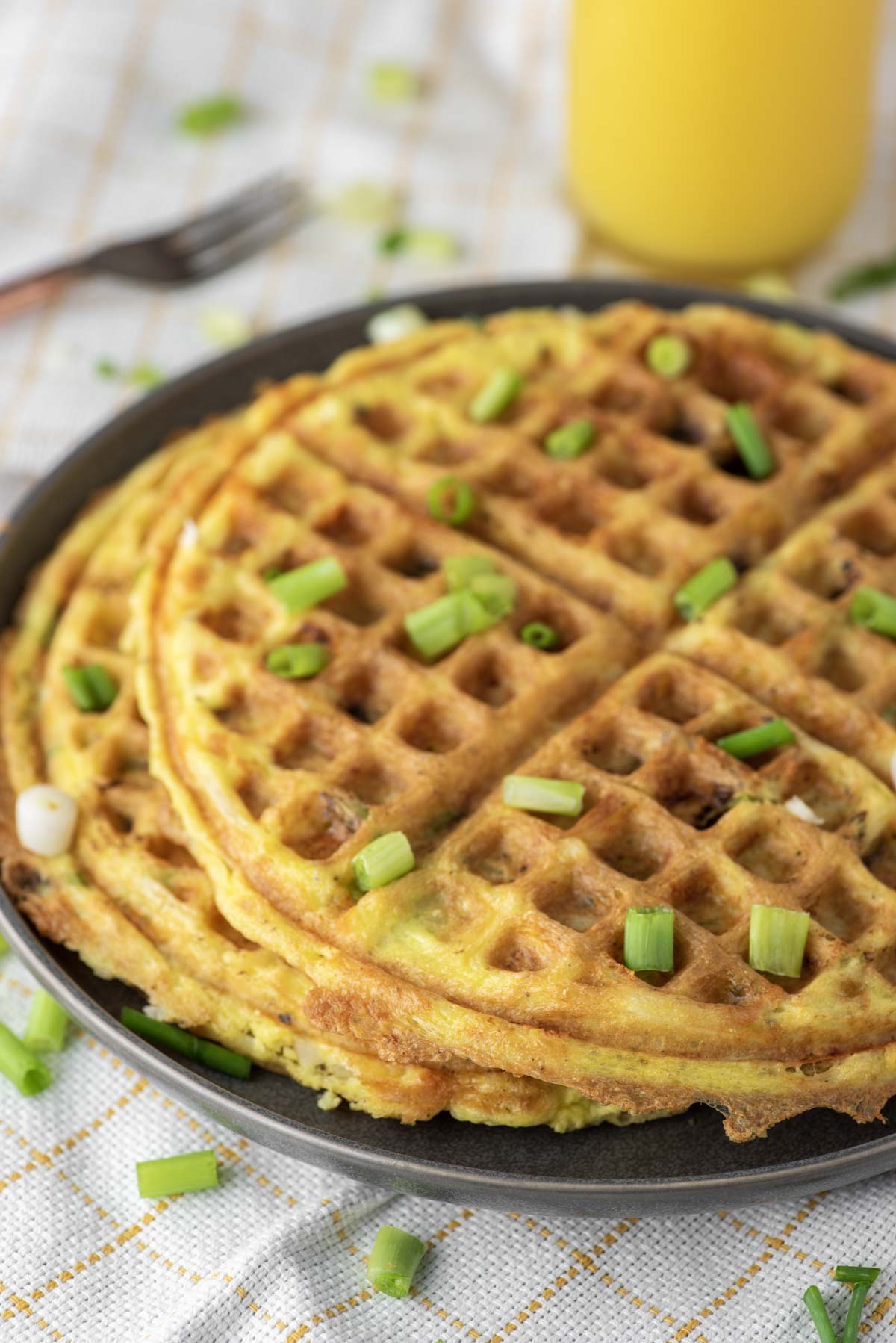 hash brown waffles on plate