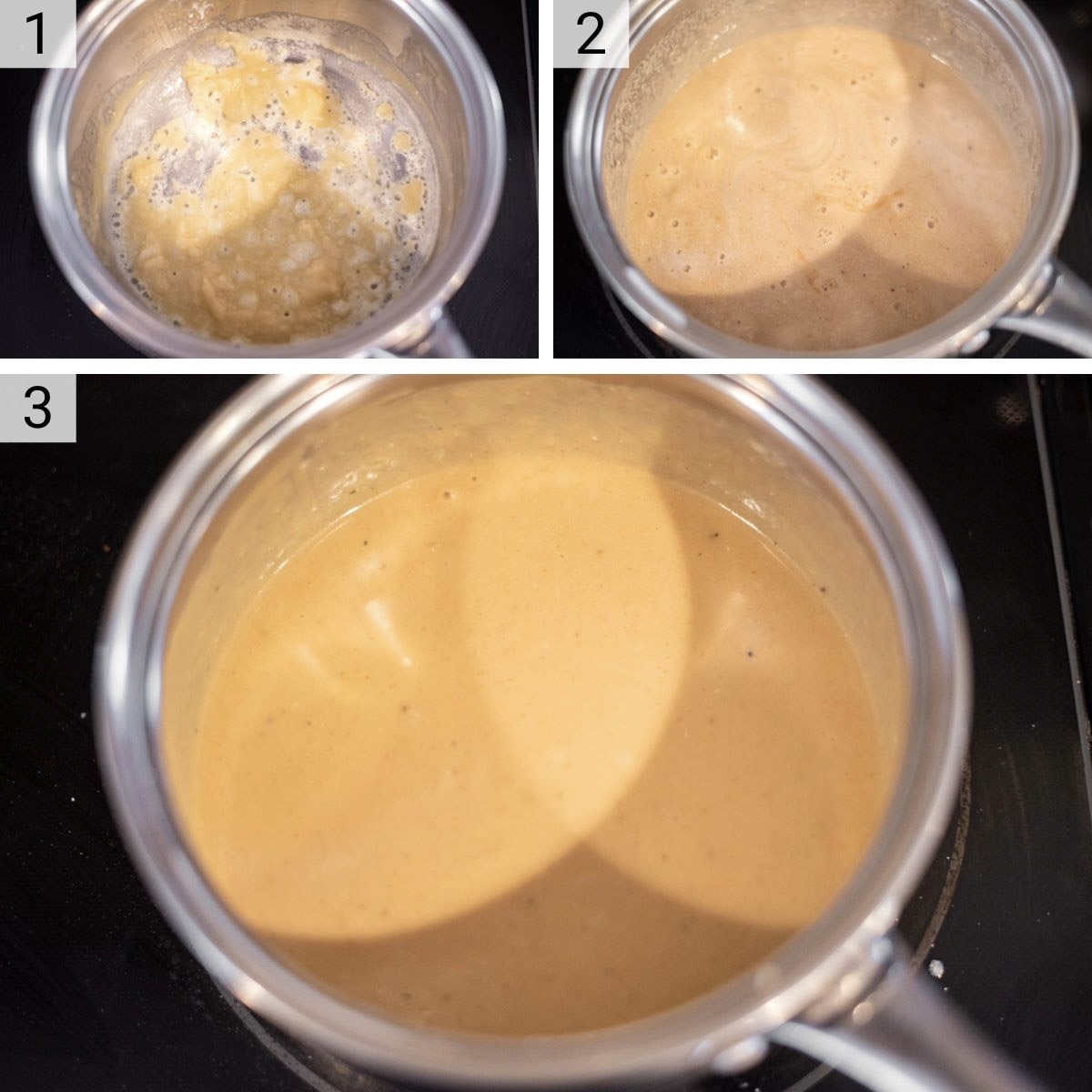 process shots of how to make Guinness cheese dip
