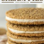 4 stacked oatmeal cream pies