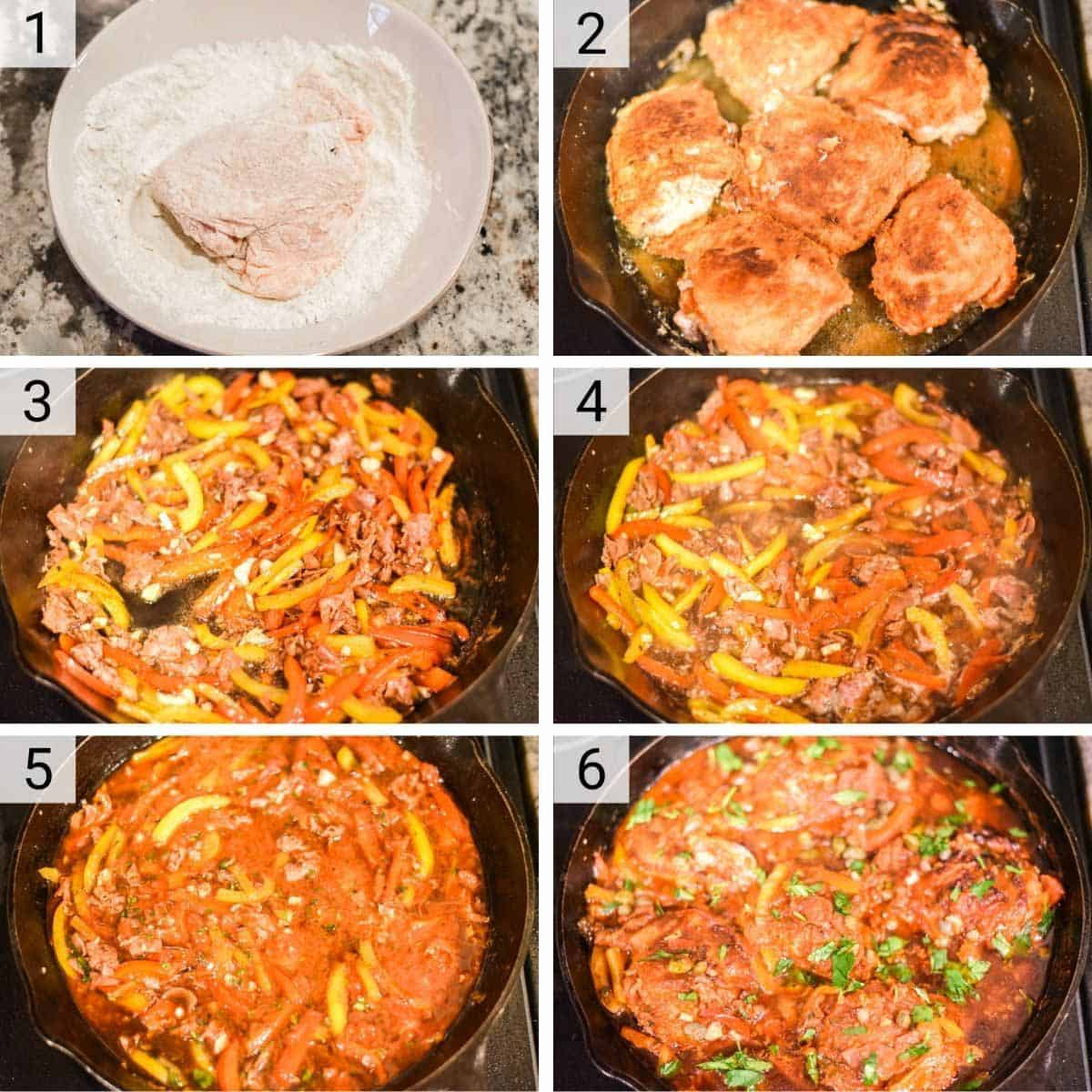 process shots of how to make Roman chicken