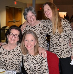 Sisters Anita Diebenow, Miriam Casey, Betsy Seeley and Karen Davis celebrate their birthdays together.