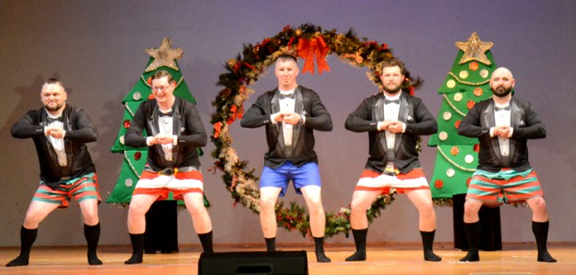 The Bells of Christmas were part of the Winter with Justin Holleman, Mike Chovanec, Tom Murdoch, Ben Gardner and James Quebedeaux participating in the hilarious skit.