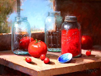 Canned Tomatoes by Kathy Tate