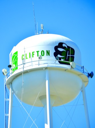 City of Clifton water tower.