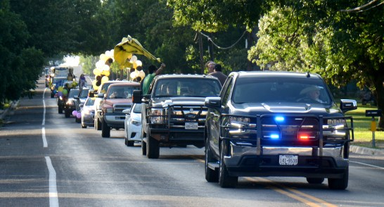 "The ""COVID Convoy"" down Main Street celebrates Meridian High School seniors June 4."