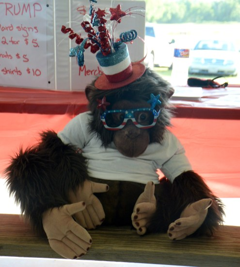 Bosque County Republican Club mascot at the Bosque County Republican Club Party in the Park event June 16.